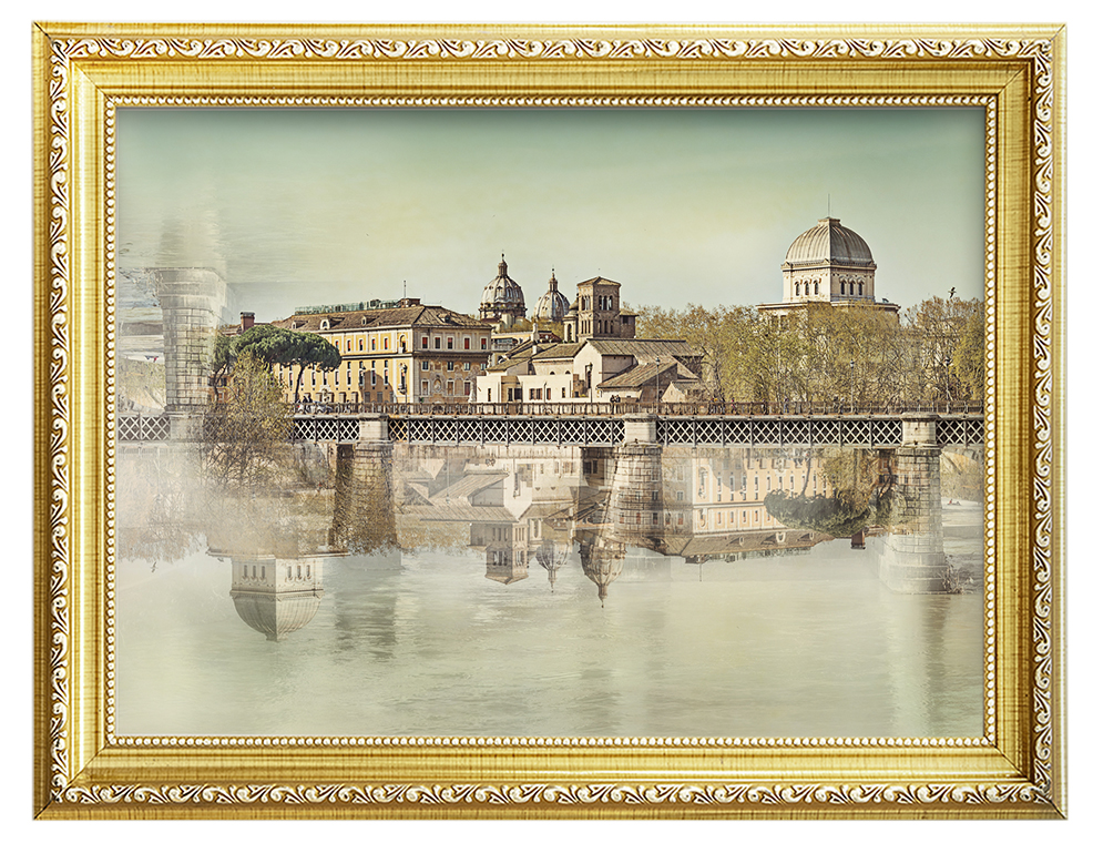 tiber island and the synagogue in rome italy